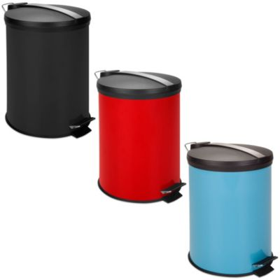 Equip Your Space 12-Liter Metal Step Trash Can in Black