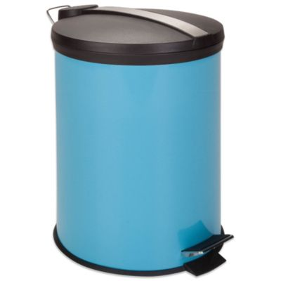 Equip Your Space 12-Liter Metal Step Trash Can in Blue