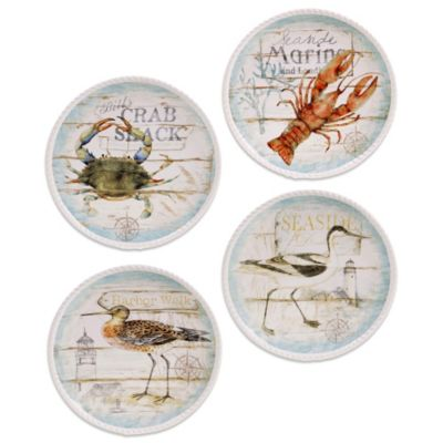 Certified International Beach Cottage 10.5-Inch Dining Plate (Set of 4)
