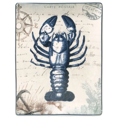 Certified International Coastal Postcards 16-Inch x 12-Inch Platter