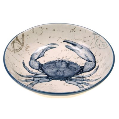 Certified International Coastal Postcards 13.25-Inch Serving/Pasta Bowl
