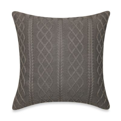 Real Simple® Tyler Knit Square Throw Pillow in Grey