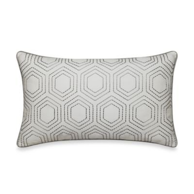 Real Simple® Tyler Oblong Throw Pillow in Grey