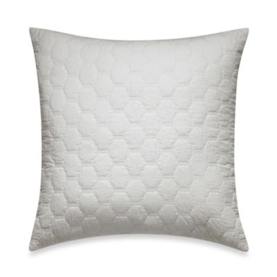 White Quilted Decorative Pillows : Buy Real Simple Tyler Quilted Geometric Square Throw Pillow in White from Bed Bath & Beyond