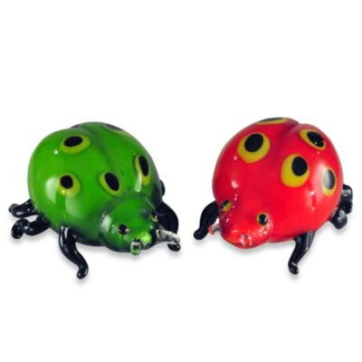 Art Glass 4.9-Inch Ladybugs Sculpture