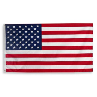 3-Foot x 5-Foot Traditional Hanging USA Flag