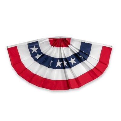 3-Foot x 6-Foot Traditional USA Bunting Banner