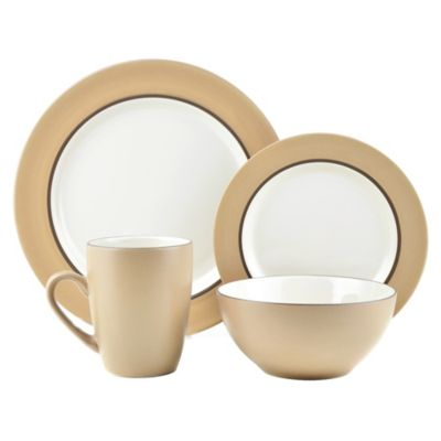 Thomson Pottery 16-Piece Dinnerware Set in Kensington Latte