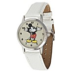 Disney® Ingersoll Classic Time All-Day Mickey Quartz Watch with White Band
