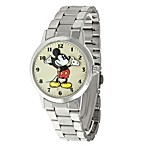 Disney® Ingersoll Classic Time All-Day Mickey Quartz Watch with Silver Band