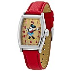 Disney® Ladies Ingersoll Minnie Tonneau Classic Time Watch with Red Strap