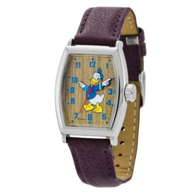 Disney® Classic Time Donald Duck Tonneau Watch with Brown Wrist Strap