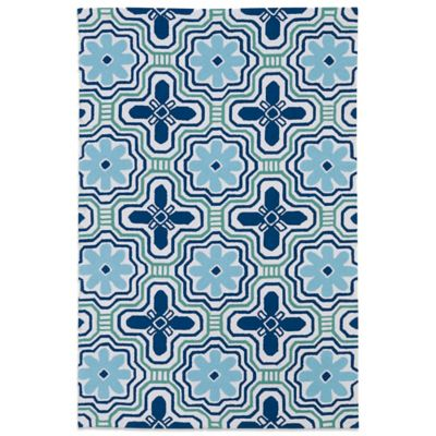 Kaleen Matira Flower 3-Foot x 5-Foot Area Rug in Ivory