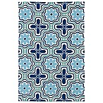 Matira Flower Indoor/Outdoor Area Rug in Ivory
