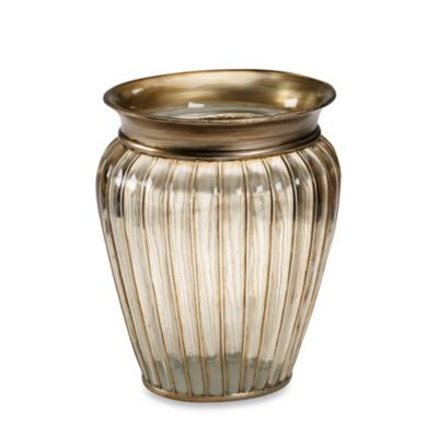 Croscill® Antique Ribbed Waste Basket