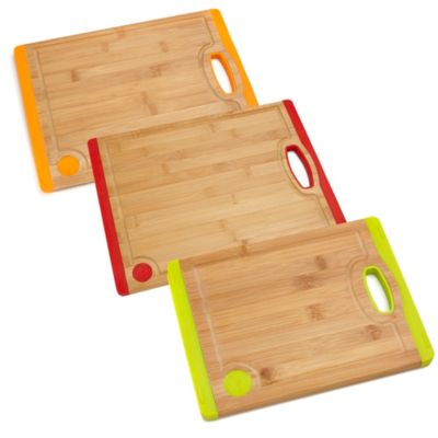 Fiesta® 14-Inch Bamboo with Silicone Cutting Board in Tangerine
