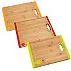Fiesta® 10-Inch Bamboo with Silicone Cutting Boards