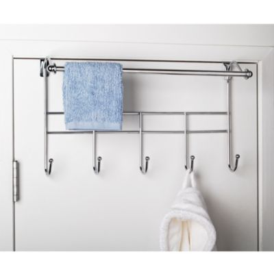 Over-the-Door Towel Rack with Hooks