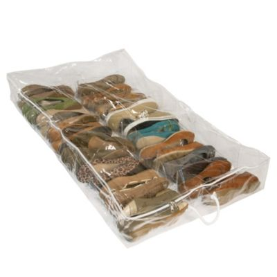 Closetware Clear Underbed Shoe Organizer