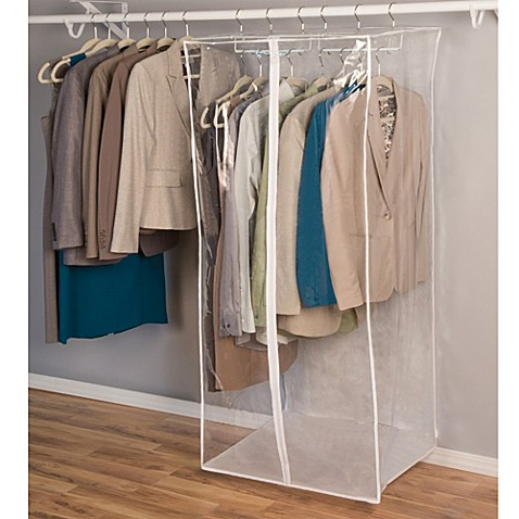 closetware clear jumbo dress bag  wwwbedbathandbeyond
