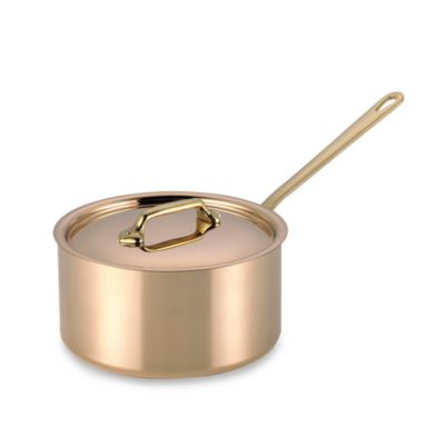 Mauviel 1830 M'heritage 150b Cuprinox Pour La Table Copper 2.6-Quart Covered Saucepan