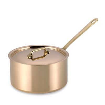 Mauviel 1830 M'heritage 150b Cuprinox Pour La Table Copper 3.6-Quart Covered Saucepan