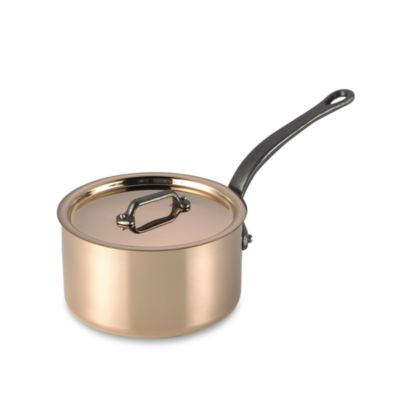 Mauviel 1830 M'heritage 250c Cuprinox Copper 1.9-Quart Covered Saucepan