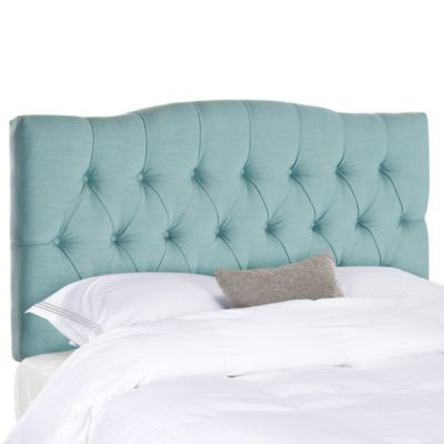 Safavieh Axel Tufted Full Headboard in Blue