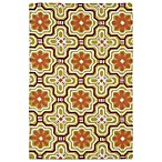Matira Flower Indoor/Outdoor Area Rug in Gold
