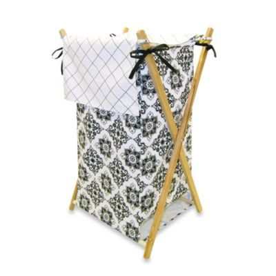 Trend Lab® Versailles Black and White Hamper