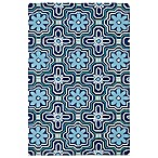 Matira Flower Indoor/Outdoor Area Rug in Blue