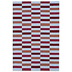 Matira Indoor/Outdoor Area Rug in Cranberry