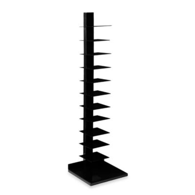 Southern Enterprises Metal Spine Storage Tower in Black