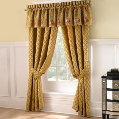 Waterford® Linens Bellwood Tailored Window Valance