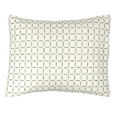 DKNYpure® Pure Imprint Ivory Oblong Throw Pillow