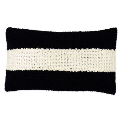 DKNYpure® Pure Imprint Charcoal Oblong Throw Pillow