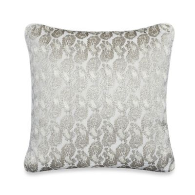 upstairs by Dransfield & Ross Tea Tree 16-Inch Square Throw Pillow