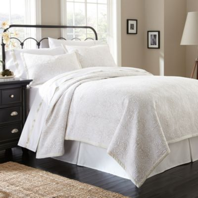 Waterford® Linens Damask Stitch Reversible Queen Quilt