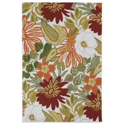 Kaleen Matira Tropical 7-Foot 6-Inch x 8-Foot Indoor/Outdoor Rug in Ivory