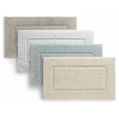 Kassatex Roma Linea Bath Rug in White