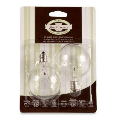 Full Size Wax Warmer 25-Watt Replacement Bulbs (Set of 2)
