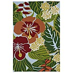 Kaleen Matira Tropical Indoor/Outdoor Rug in Blue Floral