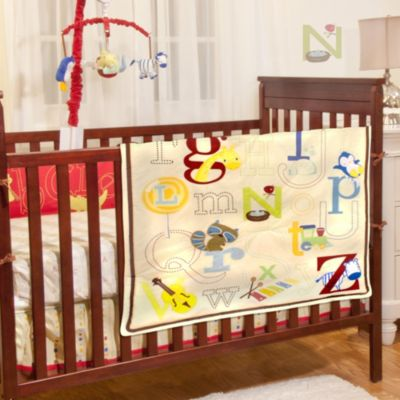 4-Piece Green Crib Set