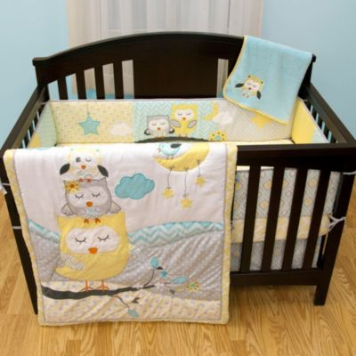 Baby's First by Nemcor Naptime Owls 5-Piece Crib Bedding Set