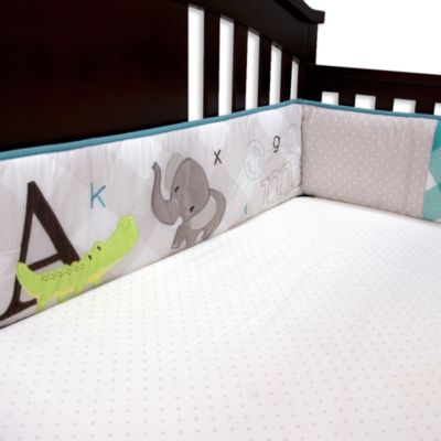 Baby's First by Nemcor A-to-Z 4-Piece Crib Bumper Set
