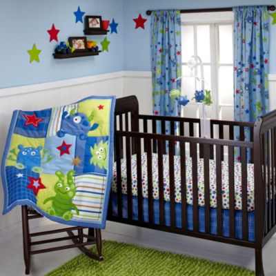 NoJo® Monster Babies 3-Piece Crib Bedding Set