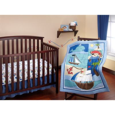 3-Piece Blue Crib Bedding
