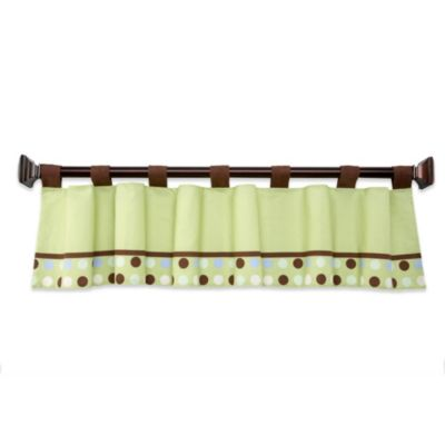 Blue Bed Valance