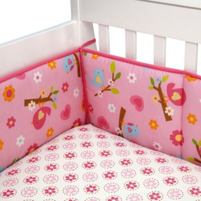 NoJo® Lil Bedding Secure-Me Crib Bumper in Sweet Lil Birds