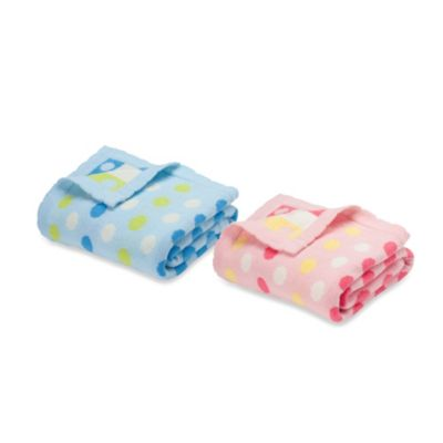 Pastel Dots Blanket in Blue